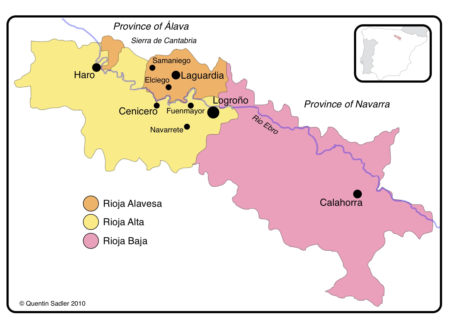 Map Of Spain Rioja.Rioja And Its Personality Innovation In Tradition